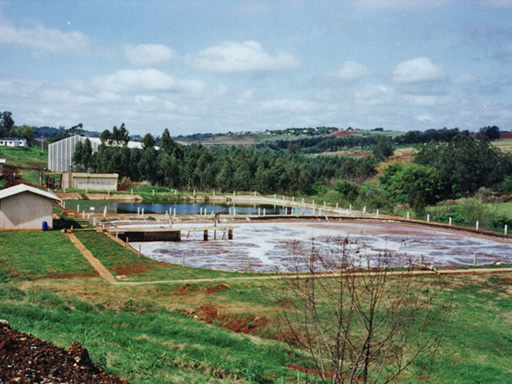Tannery wastewater treatment plant