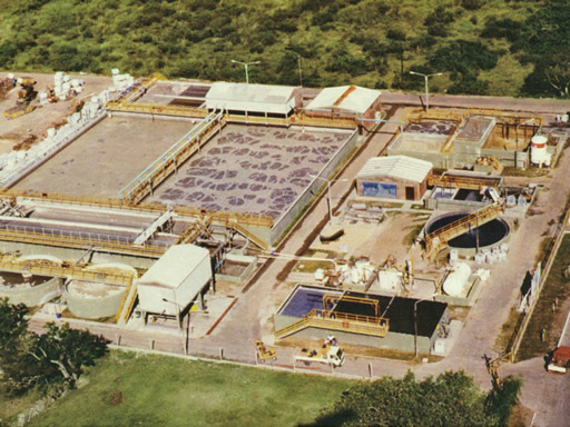 Wastewater treatment plant for tanning industries