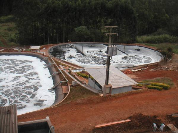 Wastewater treatment plant for tanning industry